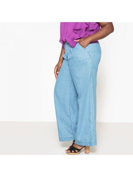 Расклешенные джинсы широкие с поясом Castaluna
