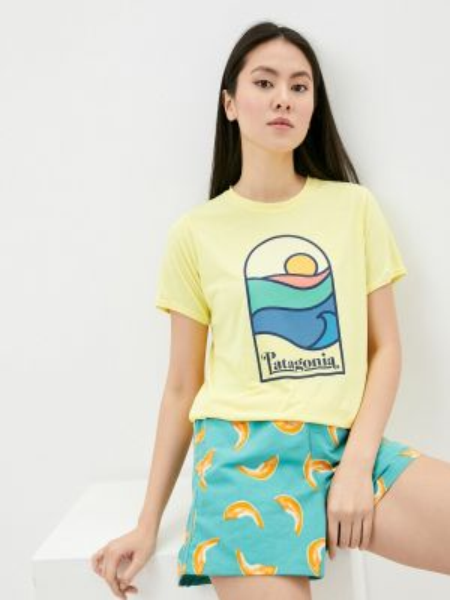 Спортивная футболка - желтая Patagonia