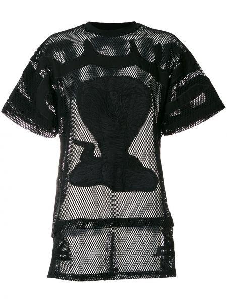 Черный футбольный топ с вышивкой Ktz