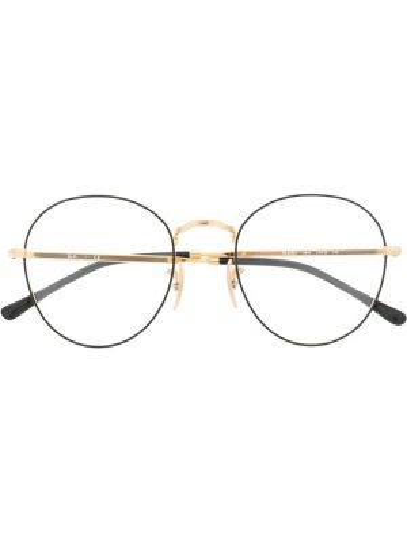 Złote oprawka do okularów - czarne Ray-ban