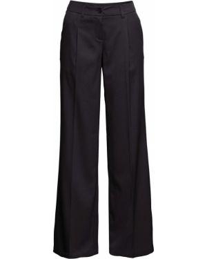 Свободные брюки черные деловые Bonprix