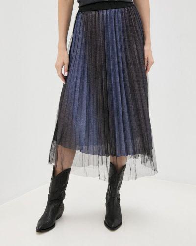 Синяя плиссированная юбка B.young