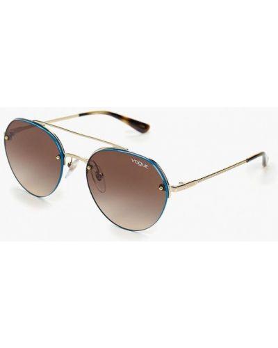 Очки авиаторы солнцезащитные золотой Vogue® Eyewear