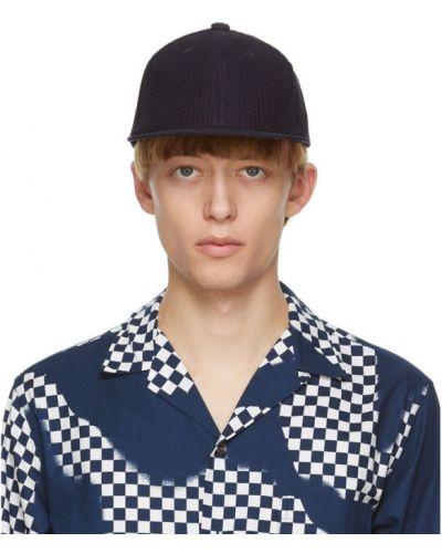 Bawełna bawełna czarny czapka z daszkiem z haftem Blue Blue Japan