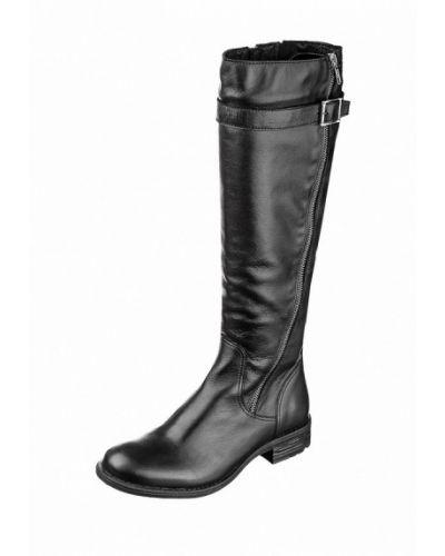 Кожаные сапоги - черные Goergo