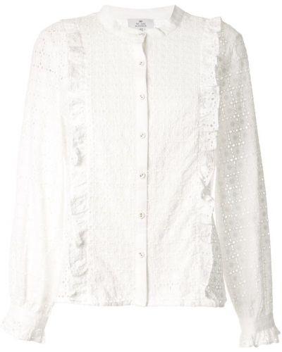 Блузка с длинным рукавом с воротником-стойкой белая We Are Kindred
