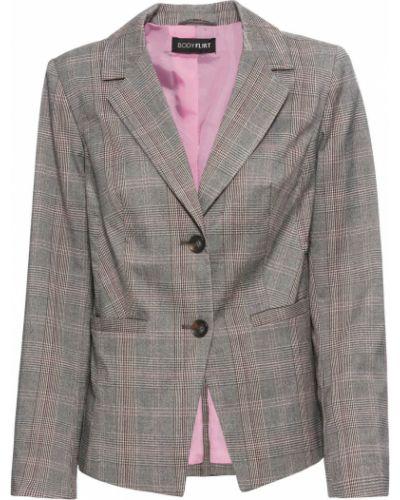 Пиджак в клетку с карманами с воротником Bonprix