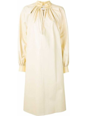 Кожаное платье миди Jil Sander