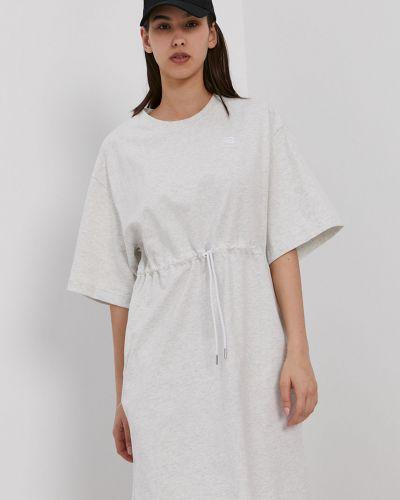 Szara sukienka mini bawełniana casual New Balance