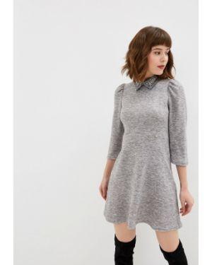 Платье серое прямое Rinascimento