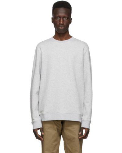 Frotte z rękawami biały bluza z mankietami Norse Projects