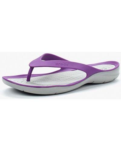 Сланцы фиолетовый Crocs