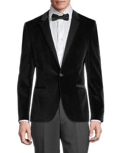 Klasyczna czarna długa kurtka bawełniana Hugo Hugo Boss
