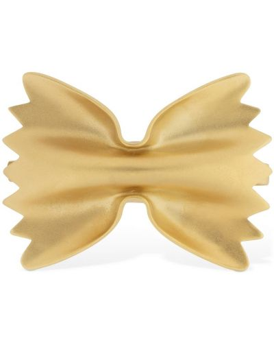 Żółte złote klipsy Trine Tuxen