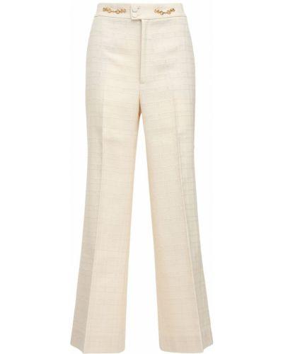 Bawełna światło biały bawełna spodnie Gucci