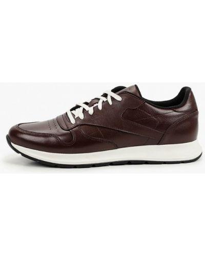 Красные кожаные кроссовки Valser