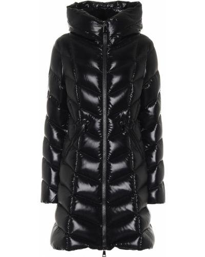 Стеганое черное пуховое стеганое пальто Moncler