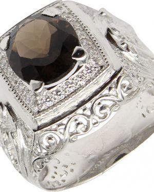 Кольцо серебряный с декоративной отделкой маршал