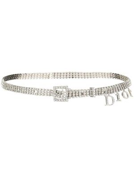 Pasek z paskiem klamry srebrny Christian Dior