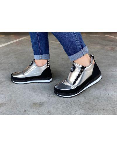 Ботинки серебристые - серебряные Bromen
