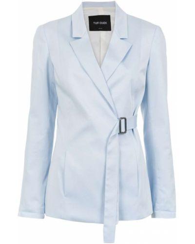Синий удлиненный пиджак Tufi Duek