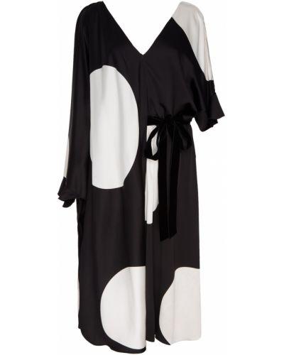 Платье миди в горошек через плечо Valentino