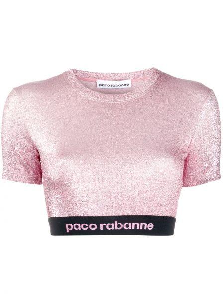 Кроп-топ розовый с люрексом Paco Rabanne