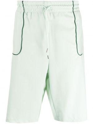 Шерстяные зеленые шорты с карманами Drôle De Monsieur