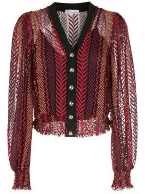 Красная блузка с вышивкой из вискозы НК