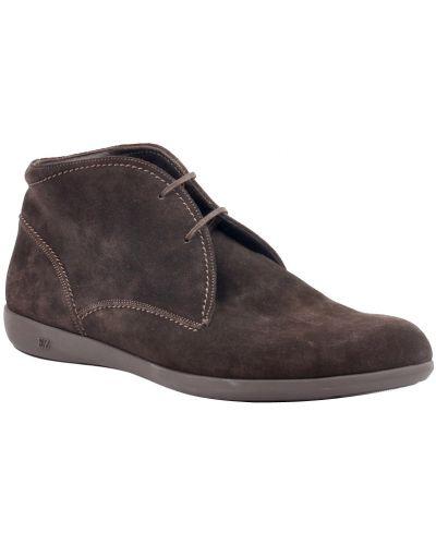Ботинки осенние кожаные замшевые Ermenegildo Zegna