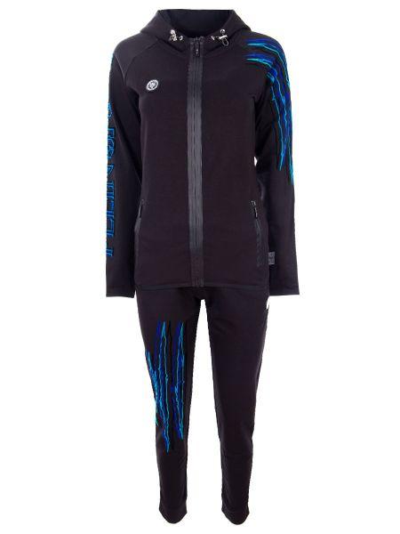 Спортивный костюм черный с карманами Plein Sport