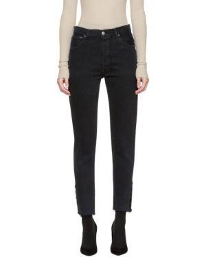Укороченные джинсы с воротником с манжетами винтажные с карманами Olivier Theyskens