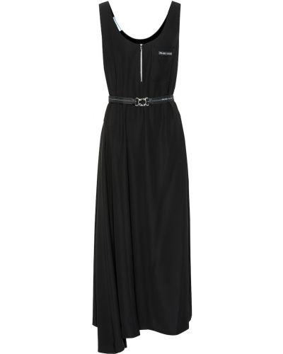 Платье миди черное Prada