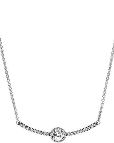 Серебряное ожерелье с подвесками с камнями Pandora