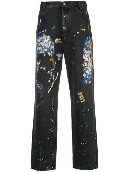 Czarne jeansy bawełniane z paskiem Simon Miller