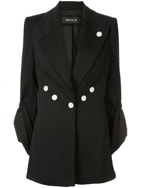 Черная куртка с манжетами на пуговицах с карманами Kitx