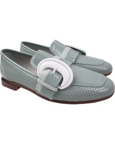 Кожаные туфли - мятные Aquamarin