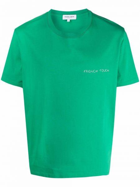Zielony t-shirt krótki rękaw bawełniany Maison Labiche