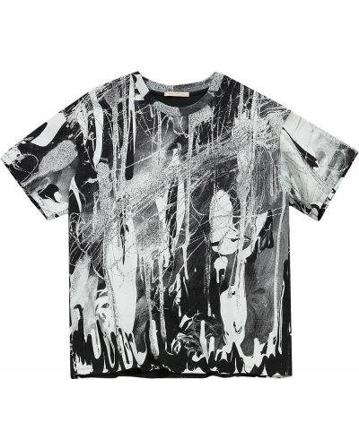 T-shirt bawełniana - czarna Christopher Kane