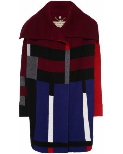 Пальто прямое с принтом Burberry