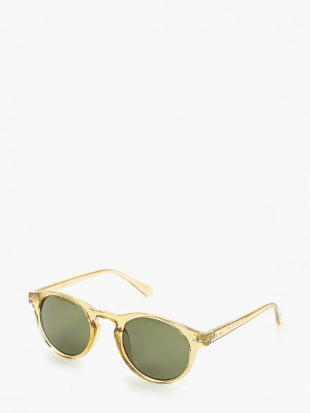 Бежевые солнцезащитные очки круглые с завязками Mango Man