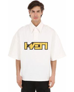 Biały t-shirt bawełniany oversize Haervaerk