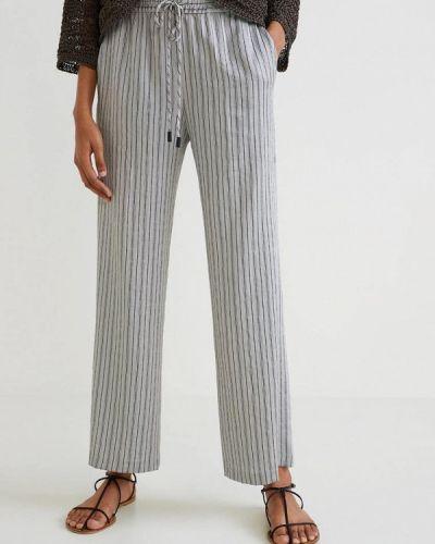 Серые брюки прямые Mango