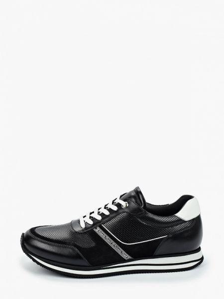 Кожаные черные кроссовки Roberto Piraloff