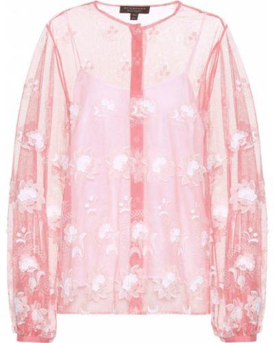 Блузка розовая из фатина Burberry