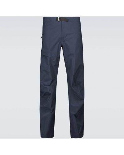 Niebieskie spodnie z nylonu Arcteryx