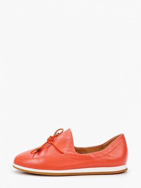 Кожаные туфли коралловый оранжевый Tf's