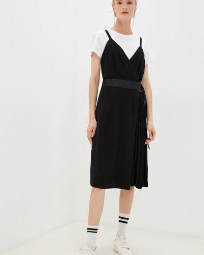 Черное джинсовое платье с запахом Calvin Klein Jeans