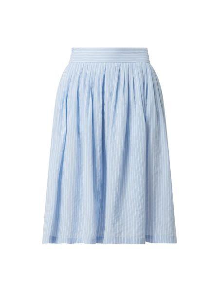 Niebieska spódnica midi rozkloszowana w paski Y.a.s