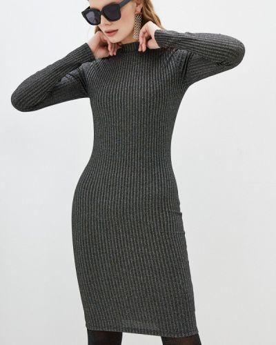 Серебряное повседневное платье Hugo